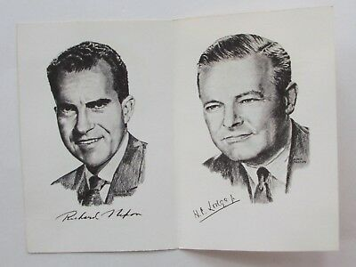 Nixon-Lodge 1960 Picture Card-Let Freedom Ring-Issued By Rep Finance Comm. Penna