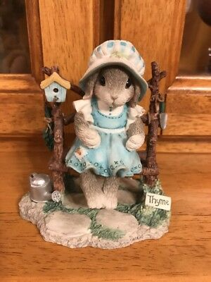 """My Blushing Bunnies -""""Take Thyme to Savor What You've Sown."""" Enesco Figurine"""