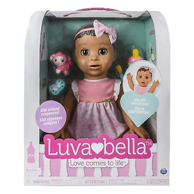 Luvabella Brown Hair Interactive Baby Doll with Expressions & Movement