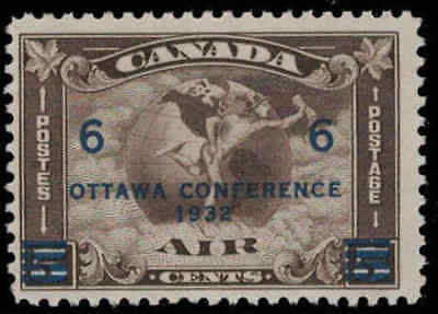 Canada 1932 6¢ on 5¢ Airmail Mint Never Hinged