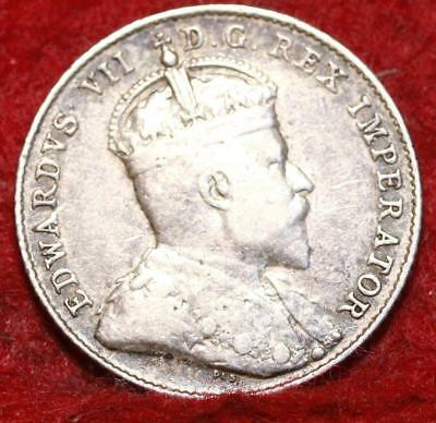 1910 Canada Silver 10 Cents Foreign Coin