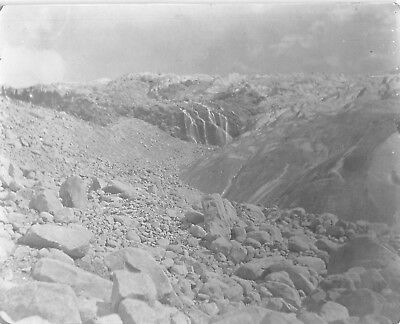 Great Glacier British Columbia Canada Lateral Moraine Vintage Black White Photo