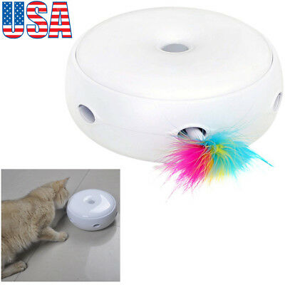 Electric Pets Cat Toy Smart Teaser Interactive Kitten Rotating Design Funny Toy