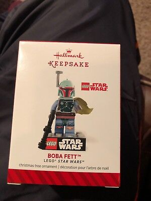 "New!  Hallmark Ornament Featuring Lego Star Wars ""boba Fett"""