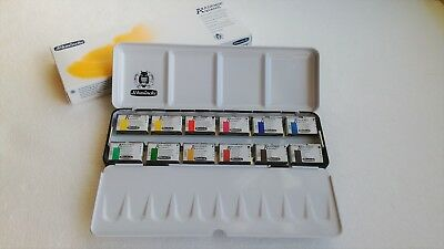Schmincke Akademie Aquarell Watercolor 1/1 large Pan 12 Color Metal set - 75312