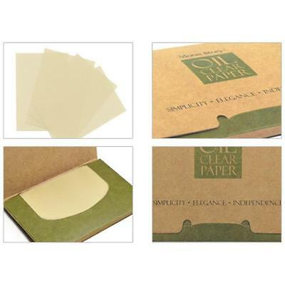100Pcs Portable Girl Oil Control Blotting Paper Facial Makeup Clean Tissue QK