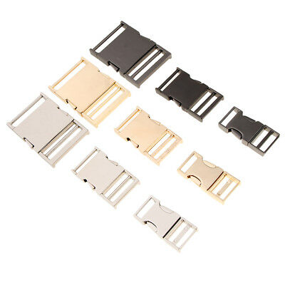 DIY Metal Side Clip Buckle Fasteners Webbing Quick Release Parts 19/25/38 mm