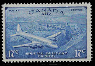 Canada 1946 17¢ Airmail Special Delivery Mint Never Hinged