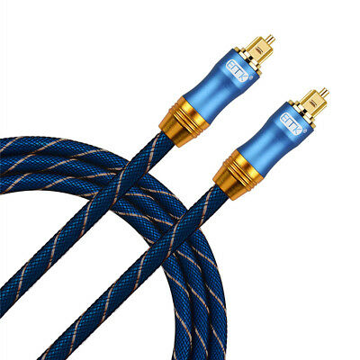 Braided Toslink Digital Fiber Optic Optical Audio Cable SPDIF Dolby DTS OD6.0