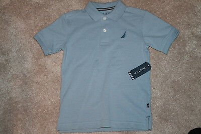 Boys Nautica SS Polo Shirt Size M 5/6 Blue Flint Color NWT