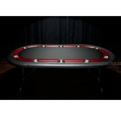 """84"""" High Roller Black Suited Speed Oval Poker Table"""