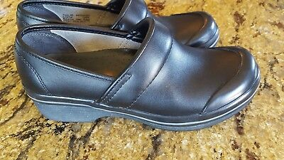 DANSKO black Leather women's Clogs size Eur 36, US 6