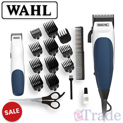 NEW WAHL HOMECUT COMBO Hair Clipper & Bonus Battery Beard Trimmer 19pc Home Cut