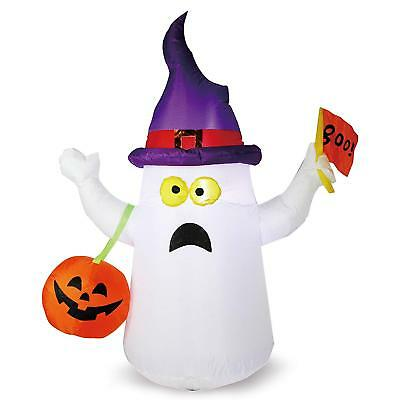 Joiedomi 4.5 ft Halloween Inflatable Blow Up Ghost with Boo Flag for Halloween