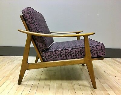 Vintage Danish Lounge Chair w/ New Cushions & Straps - Mid-century Modern MCM