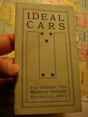 THE CEMENT TILE Co. Waterloo Iowa Ideal Cars Antique brochure