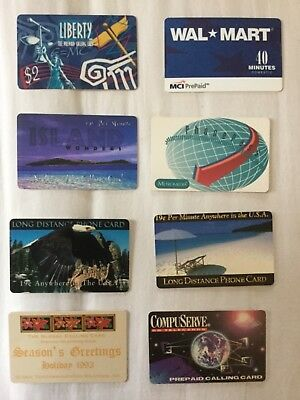 Lot of 16: Vintage 1990s USA Prepaid Telephone Cards