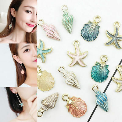 13pcs/set Colorful Conch Sea Shells Pendant DIY Jewelry Making Handmade Gifts
