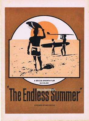 ENDLESS SUMMER Original Movie Promotional booklet Bruce Brown Surfing classic