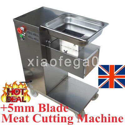 Upgraded Commercial Meat Cutting Machine Meat Slicer Cutter With 5mm Blade In UK
