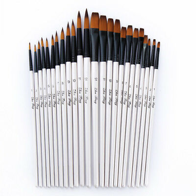 12PCS/Lot Artist Acrylic Painting Brushes Set Oil Watercolor Paint Brushes Set