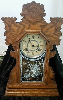 Ansonia Gingerbread Clock In Excellent Condition And Working Order.