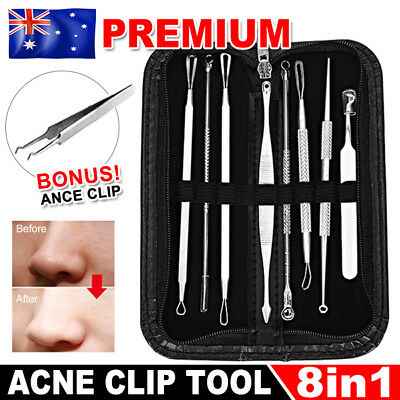7Pcs Kit Blackhead Whitehead Extractor Remover Tool Pimple Blemish Set Acne Clip