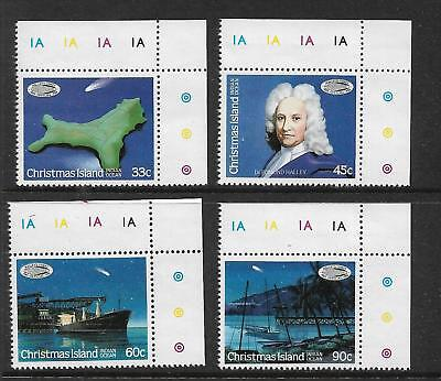 1986 Halley's Comet set of 4 Numbered, Coloured Margins MUH/MNH