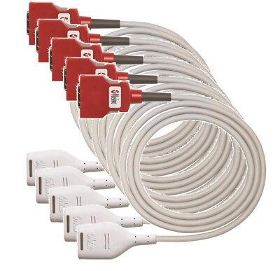 PACK OF 5 Masimo 4104 RD SET 20 PIN MD20-12: SpO2; Patient Cable, 3.7 mt, 12 ft.