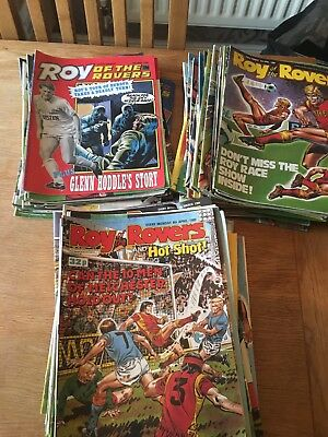 Job lot Over 100 Vintage Roy Rovers Comics 1987 1988 1989 Hot Shots