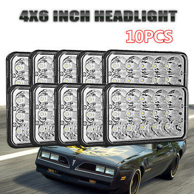 "10x 4x6"" LED Headlights for Kenworth T400 T600 T800 W900L W900B Classic 120/132"