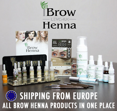 Brow Henna Eyebrow Permanent Tinting Products: Henna Tints, Removers, Brushes