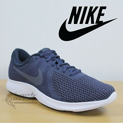 Nike Revolution 4 EU Men's Trainers Blue Running Shoes Light Weight Sneakers