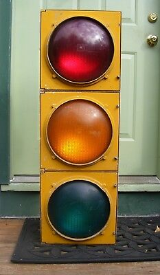 """Traffic Light  Collectible for Man Cave... Cast Aluminium 30 Lb. 42"""" Tall"""