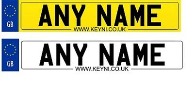 Kids Personalised Sticker Number Plates Childrens Electric Cars Jeeps Ride On