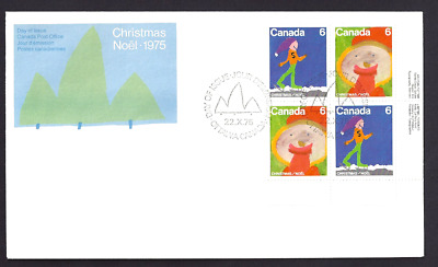 Canada   # 675 - 674 LRpb   Family Christmas    New 1975 Unaddressed