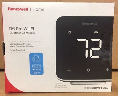 Honeywell D6 Wi-Fi Ductless Controller/thermostat Dc6000Wf1001