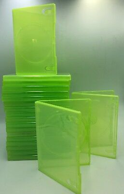 225 x Official Xbox 360 Empty Replacement Green Game Cases Good used condition