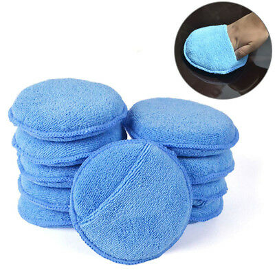"Microfiber Wax Applicator Pad 5"" Ultra soft with Finger Pocket Polish for Wax BY"
