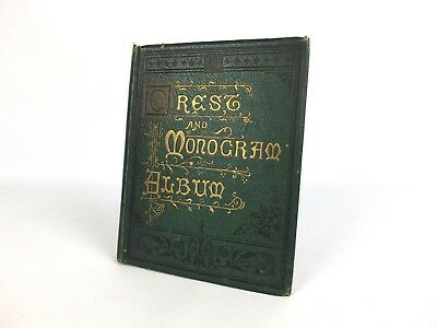 Antique Early 20th Century Crests & Monograms Album Military Navy College 250 +
