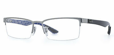 a550a46561 NEW RAY BAN RX RB7029 5260 Matte Blue Grey Plastic Square Eyeglasses ...