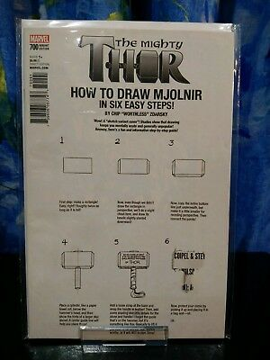 Mighty Thor #700, How to Draw Variant Marvel, 2017, NM