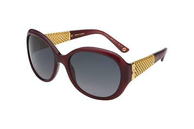 287503ee22 New Gucci GG3692 S 3JAHD Burgundy Oval Sunglasses with REAL GOLD DETAILING