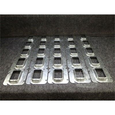 """Box of 25 Eaton TP578 Crouse-Hinds Square Outlet Box Covers, 4-11/16"""""""