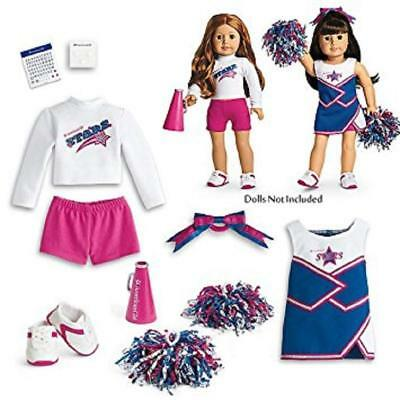 American Girl Doll 2 in 1 CHEER GEAR OUTFITS Cheerleader sets megaphone NEW