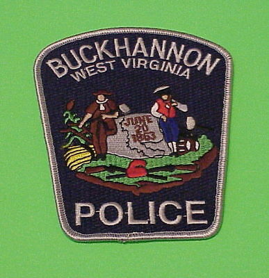 Buckhannon  West Virginia  Wv  Police Dept. Patch  Free Shipping!!!