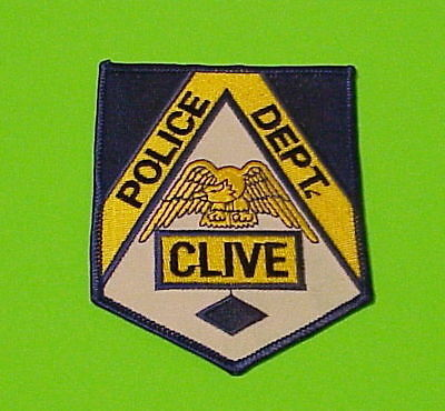 Clive  Iowa  Ia   Police Dept. Patch  Free Shipping!!!