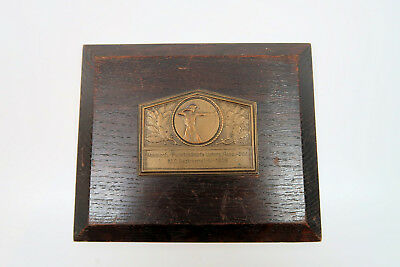 WW2 German Army officer estate trench art wall plaque shooting award medal badge