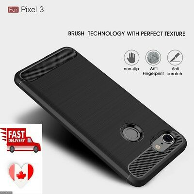 For Google Pixel 2/2XL/3/3XL Carbon Fiber Hybrid Shockproof Duty Case Cover