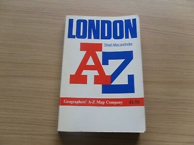 London A-Z Street Atlas and Index paperback 0850390133
